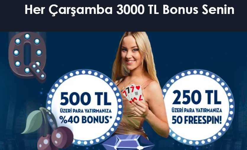 Çarşamba bonusu CasinoMaxi de